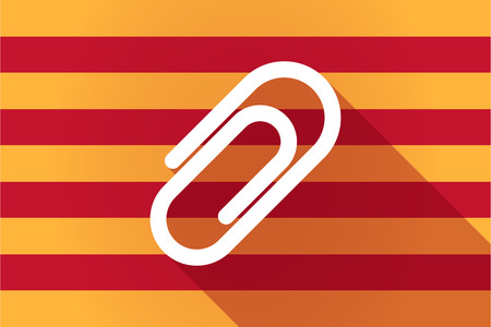 catalonia: Illustration of a long shadow Catalonia vector flag with a clip Illustration