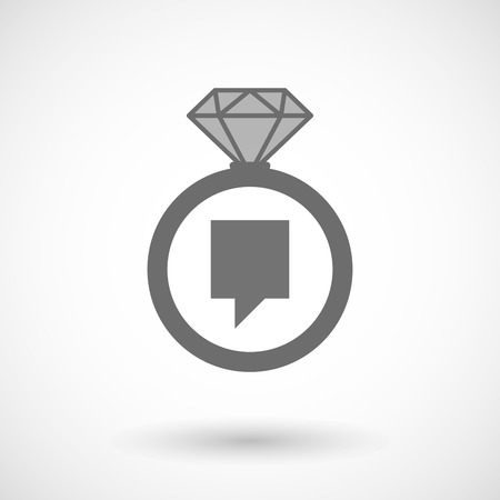 tip style design: Illustration of an isolated vector ring icon with a tooltip