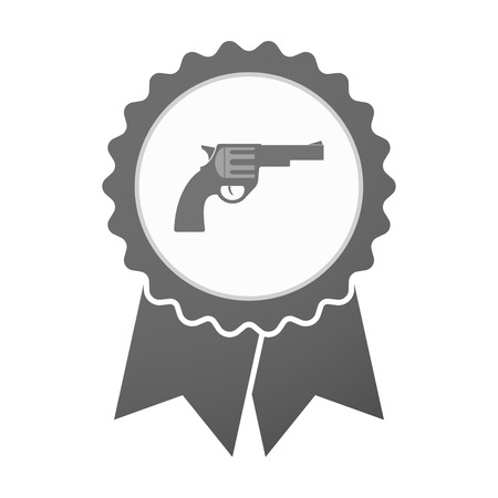 seal gun: Illustration of an isolated vector badge icon with a gun Illustration