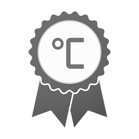 celsius: Illustration of an isolated vector badge icon with  a celsius degree sign Illustration