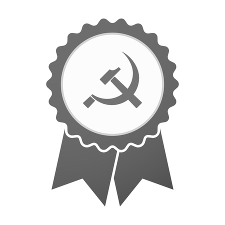 socialism: Illustration of an isolated vector badge icon with  the communist symbol Illustration