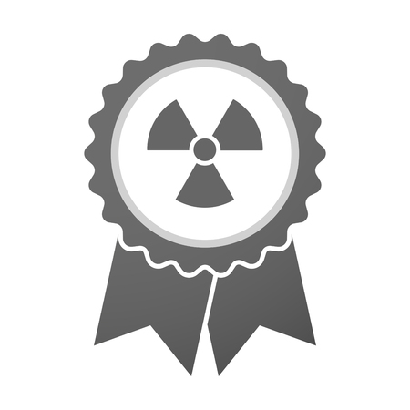 radio activity: Illustration of an isolated vector badge icon with a radio activity sign