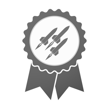 missiles: Illustration of an isolated vector badge icon with missiles Illustration