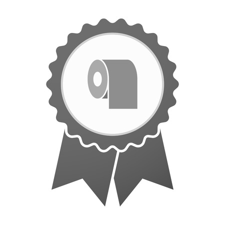 absorbent: Illustration of an isolated vector badge icon with a toilet paper roll