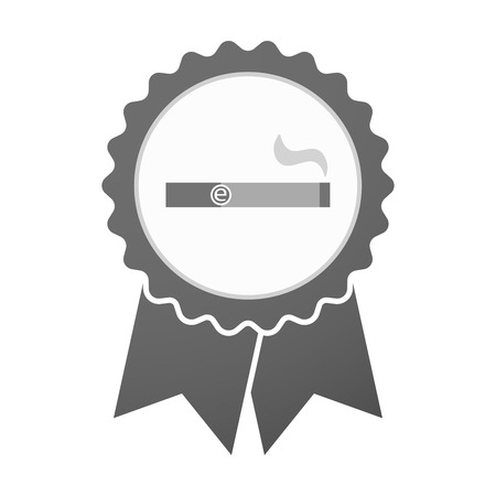 e cigarette: Illustration of an isolated vector badge icon with an electronic cigarette