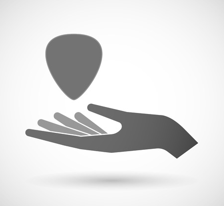 plectrum: Illustration of an isolated vector hand giving a plectrum