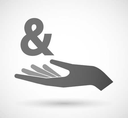 open type font: Illustration of an isolated vector hand giving an ampersand
