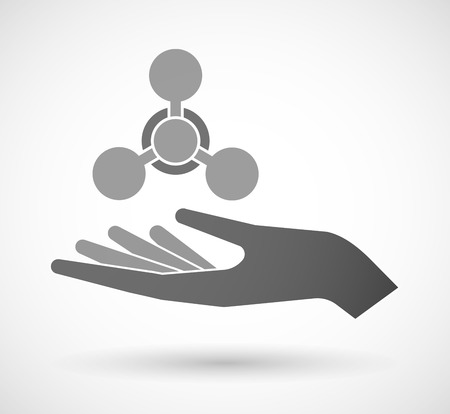 chemical weapon: Illustration of an isolated vector hand giving a chemical weapon sign Illustration