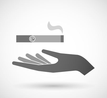 e cigarette: Illustration of an isolated vector hand giving an electronic cigarette Illustration