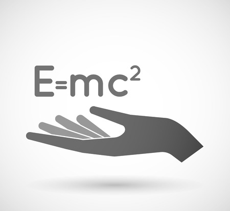 the theory of relativity: Illustration of an isolated vector hand giving the Theory of Relativity formula Illustration