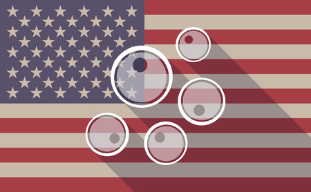 fertility emblem: Illustration of a long shadow USA flag icon