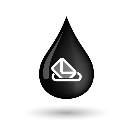 elect: Illustration of a vector oil drop icon with  a ballot box