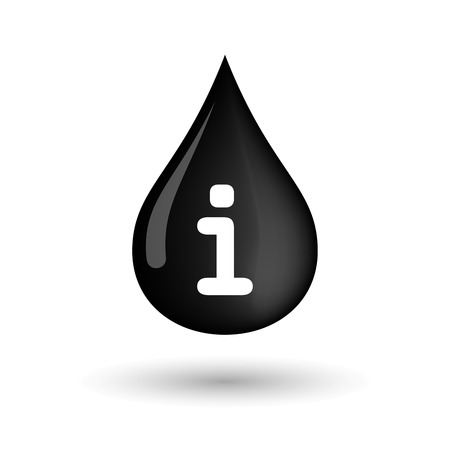 inform information: Illustration of a vector oil drop icon with an info sign