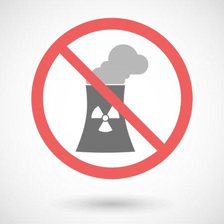 no nuclear: Illustration of a forbidden vector signal with a nuclear power station