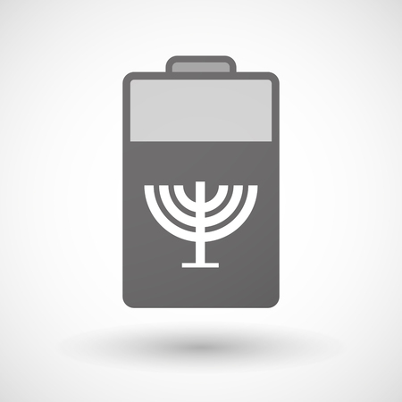 chandelier: Illustration of an isolated battery icon with a chandelier