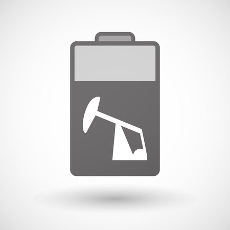 horsehead pump: Illustration of an isolated battery icon with a horsehead pump