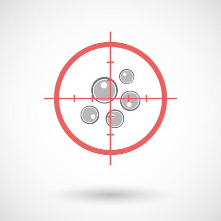 militaire sexy: Illustration d'une ic�ne en forme de croix rouge ciblage ovocytes Illustration