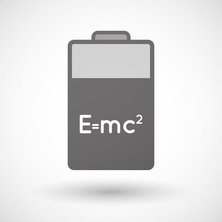 relativity: Illustration of an isolated battery icon with the Theory of Relativity formula