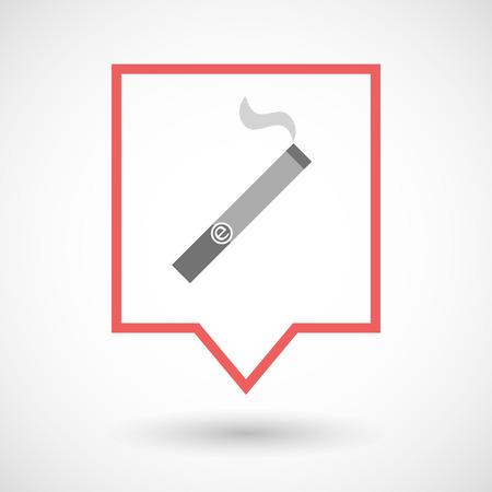 電子タバコと分離されたツールヒント ライン アート アイコンのイラスト  イラスト・ベクター素材
