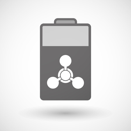 chemical weapon sign: Illustration of an isolated battery icon with a chemical weapon sign