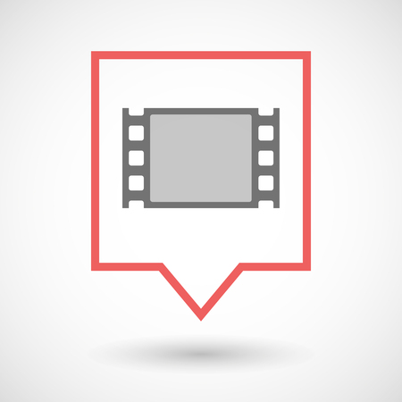 tooltip: Illustration of an isolated tooltip line art icon with a film photogram