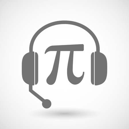 headset symbol: Illustration of a remote assistance headset icon with the number pi symbol