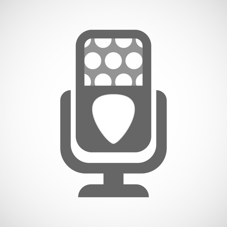 plectrum: Illustration of an isolated microphone icon with a plectrum