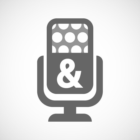 ampersand: Illustration of an isolated microphone icon with an ampersand