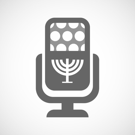 chandelier isolated: Illustration of an isolated microphone icon with a chandelier