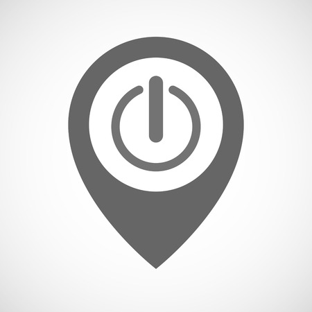 on off button: Illustration of an isolated map marker with an off button Illustration