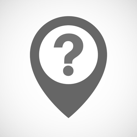 Illustration of an isolated map marker with a question sign Illustration