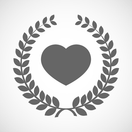 winning proposal: Illustration of an isolated laurel wreath icon with a heart