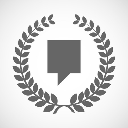 tip style design: Illustration of an isolated laurel wreath icon with a tooltip Illustration