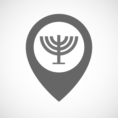 chandelier isolated: Illustration of an isolated map marker with a chandelier Illustration