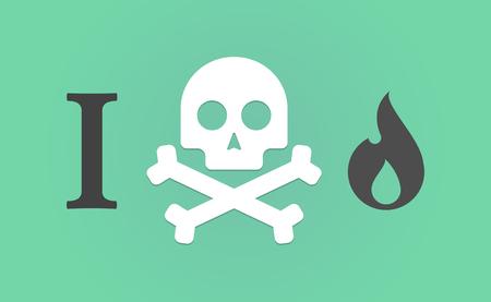 炎を「嫌い」象形文字のイラスト
