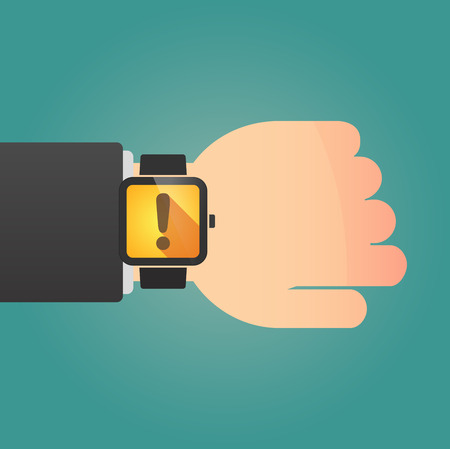 admiration: Illustration of a isolated smart watch icon with an admiration sign Illustration