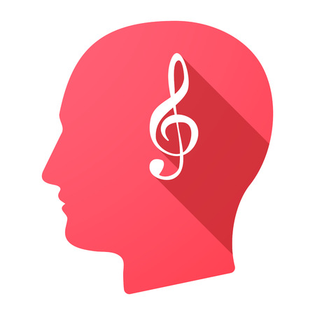 g clef: Illustration of a male head icon with a g clef