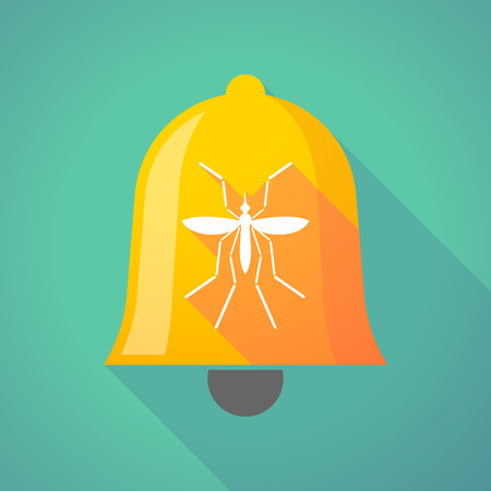 bearer: Illustration of a Zika virus bearer mosquito  in a bell icon