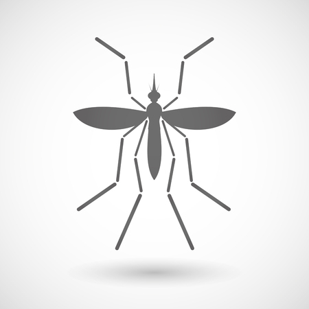 bearer: Illustration of a Zika virus bearer mosquito on a blank background Illustration