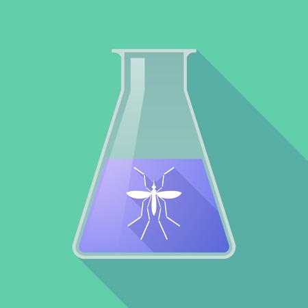 bearer: Illustration of a Zika virus bearer mosquito  in a flask
