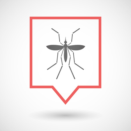 bearer: Illustration of a Zika virus bearer mosquito  in a line art tooltip