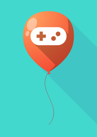 game pad: Illustration of a long shadow balloon with a game pad