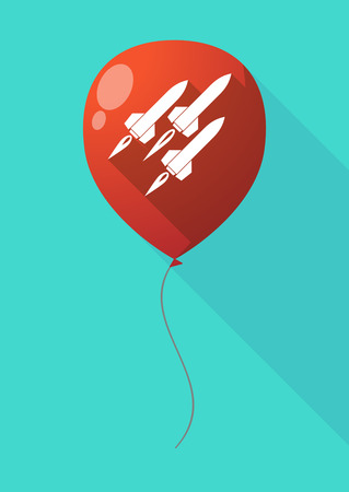 missiles: Illustration of a long shadow balloon with missiles Illustration