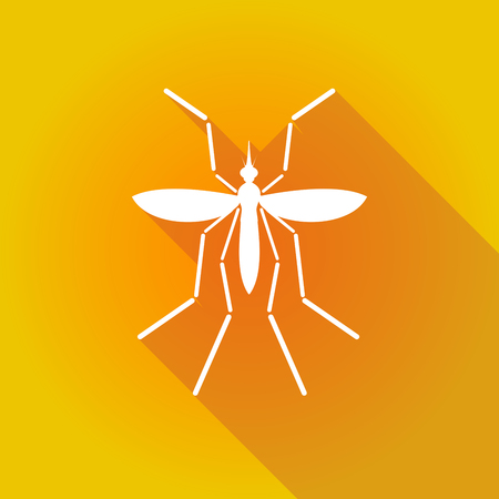 bearer: Illustration of a Zika virus bearer mosquito on a colored background