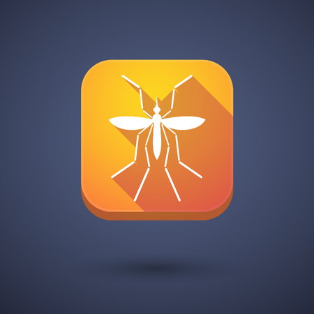 bearer: Illustration of a Zika virus bearer mosquito  in a square icon