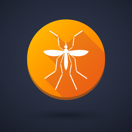 bearer: Illustration of a Zika virus bearer mosquito  in a round icon