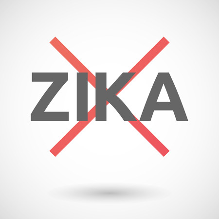 rejection: Vector illustration of the word Zika   under a rejection sign