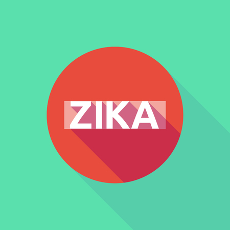 forbidden to pass: Vector illustration of the word Zika   in a forbidden pass signal