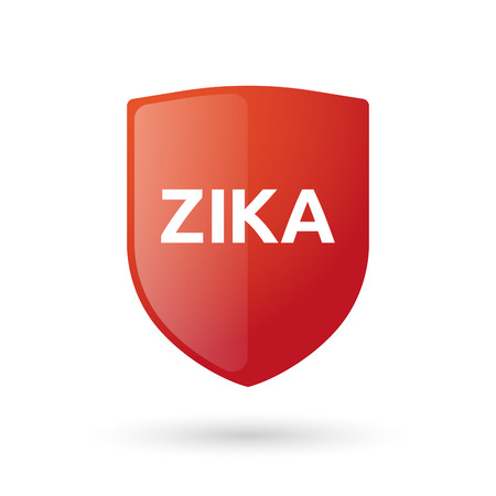 medieval medicine: Vector illustration of the word Zika   in a glossy shield icon