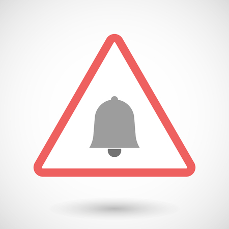 ring road: Illustration of a warning signal with a bell Illustration